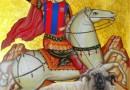 Tablou cu Nea' Gigi in chip de Sf. Gheorghe Biruitorul